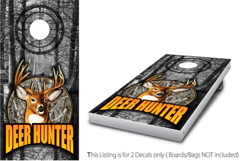 Deer Hunter #1 Cornhole Wrap set!