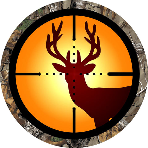 Corn Hole Decal SET! Buck Deer in Rifle Scope Lens