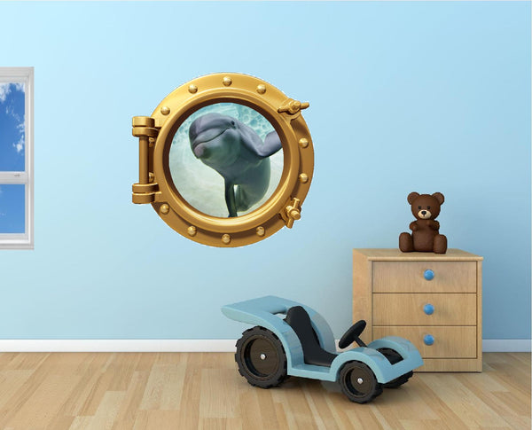Portscape Dolphin #2 Wall Decal!