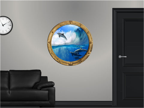 Portscape Dolphin #3 Wall Decal!