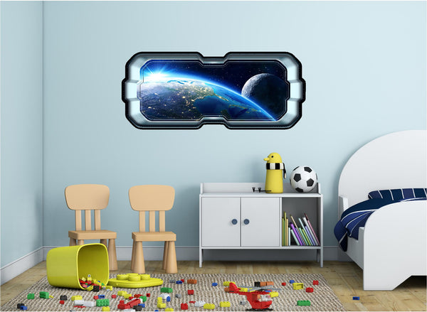 SpaceScape Earth & Moon #2 Wall Decal!