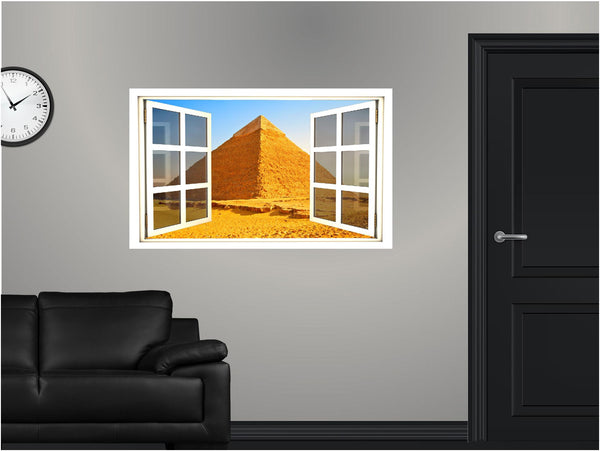 WindowScape Egyptian Pyramid Wall Decal!