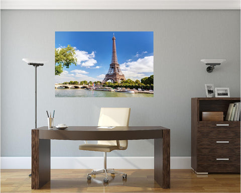 MiniMural: Eiffel Tower In France Wall Decal!