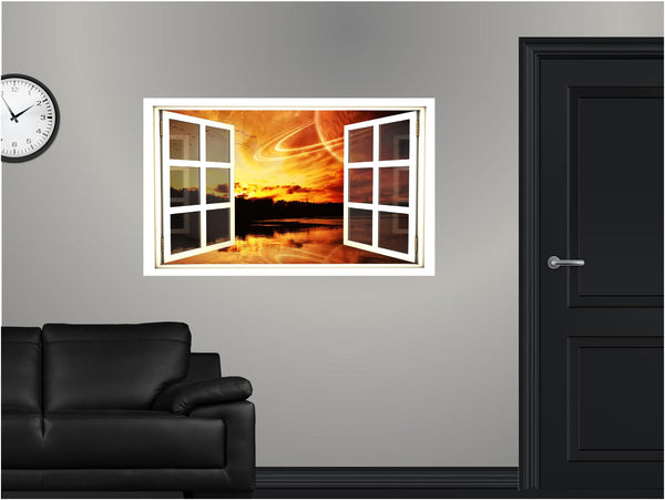 WindowScape Fantasy Sunset Wall Decal!