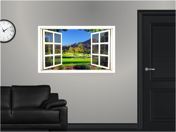 WindowScape Golf Course #2 Wall Decal!
