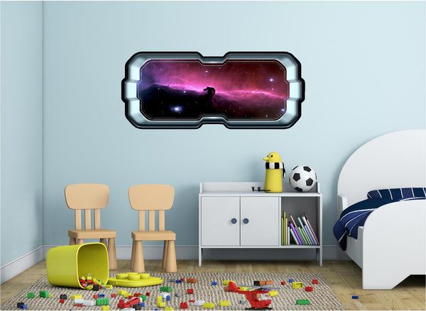 SpaceScape Horse Head Pink Nebula Wall Decal!