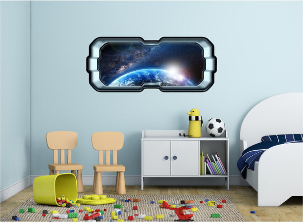 SpaceScape In Orbit Around Earth #1 Wall Decal!