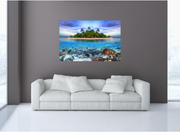 MiniMural: Island Oasis Wall Decal!