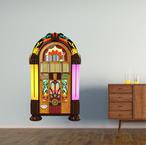 Retro Juke Box 1 Wall Decal