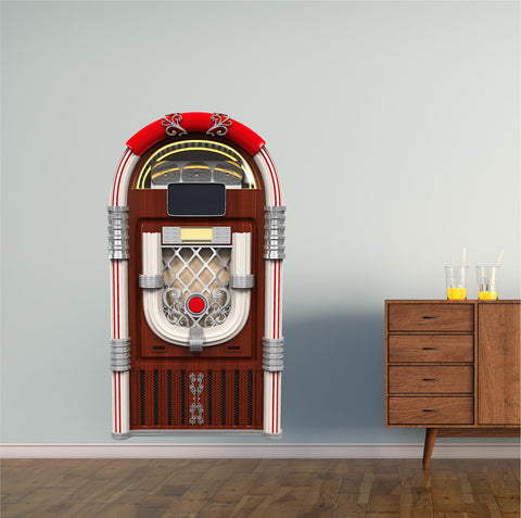 Retro Juke Box 2 Wall Decal