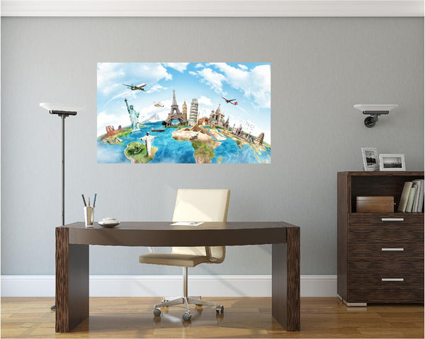 MiniMural: Landmarks Of The World Wall Decal!