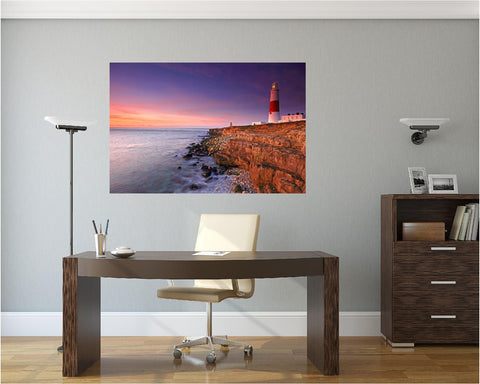 MiniMural: Lighthouse Sunset Wall Decal!