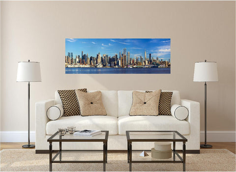 Panoramic Manhattan Morning Wall Decal!