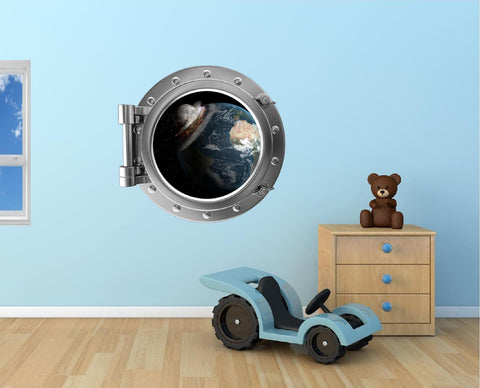 Portscape Moon & Earth Collide Wall Decal!