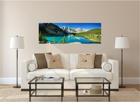 Panoramic Mountain Lake #1 Wall Decal!