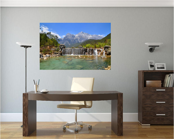 MiniMural: Mountain Stream Waterfall Wall Decal!