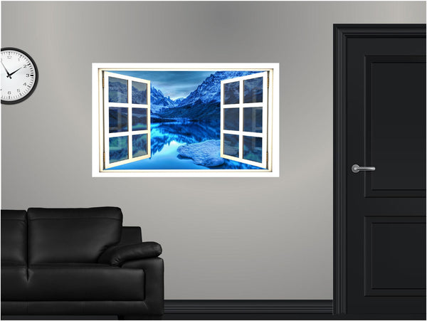 WindowScape Mountain Lake #3 Wall Decal!