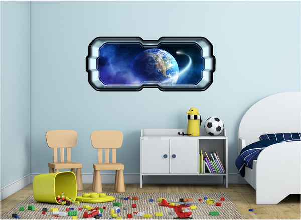 SpaceScape NEO Comet In Orbit Around Earth #1 Wall Decal!