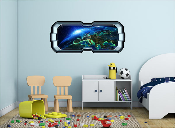 SpaceScape Orbiting Earth #1 Wall Decal!