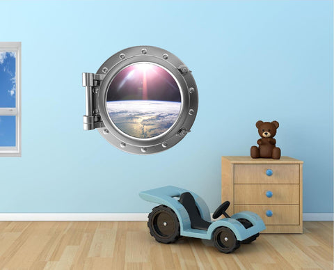 Portscape Orbiting Earth #1 Wall Decal!