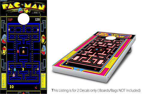 Pacman & Ms. Packman Cornhole Wrap Set!