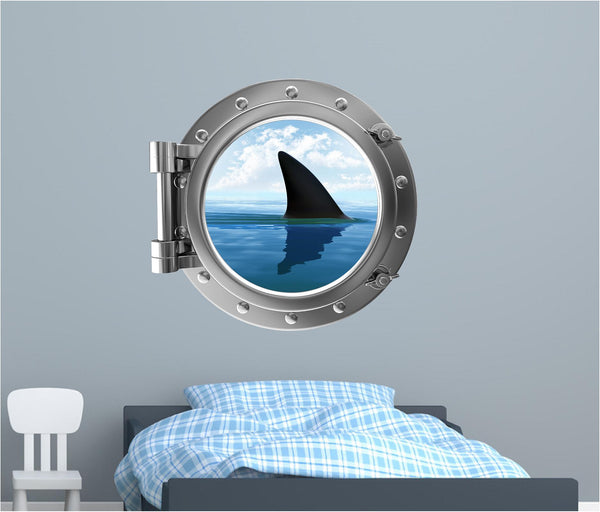 Portscape Shark Fin #1 Wall Decal!