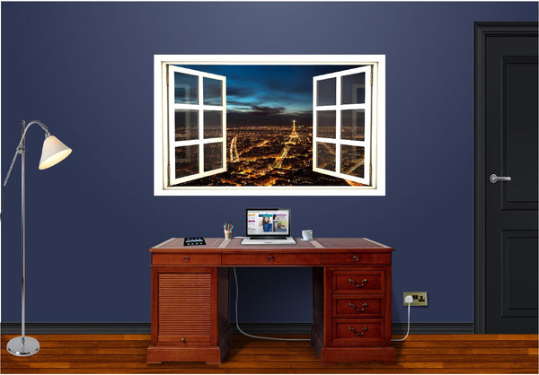 WindowScape Paris At Night Wall Decal!