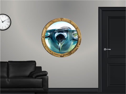 Portscape Penguin #1 Wall Decal!