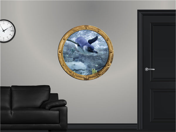 Portscape Penguin Dive #1 Wall Decal!