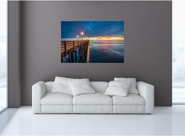 MiniMural: Pier Side Sunset Wall Decal!