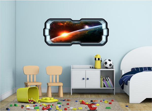 SpaceScape Planet Sunrise Wall Decal!