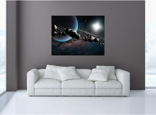 MiniMural: Pluto & Asteroid Belt Wall Decal!