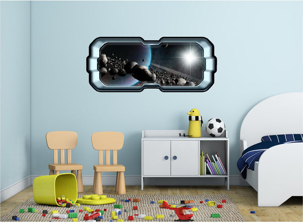 SpaceScape Pluto & Asteroid Belt Wall Decal!