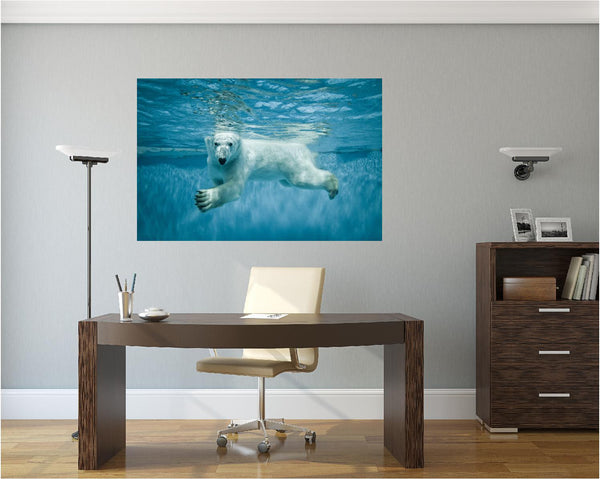 MiniMural: Polar Bear Wall Decal!