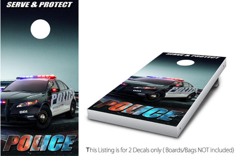 Police Interceptor #1 Cornhole Wrap set!