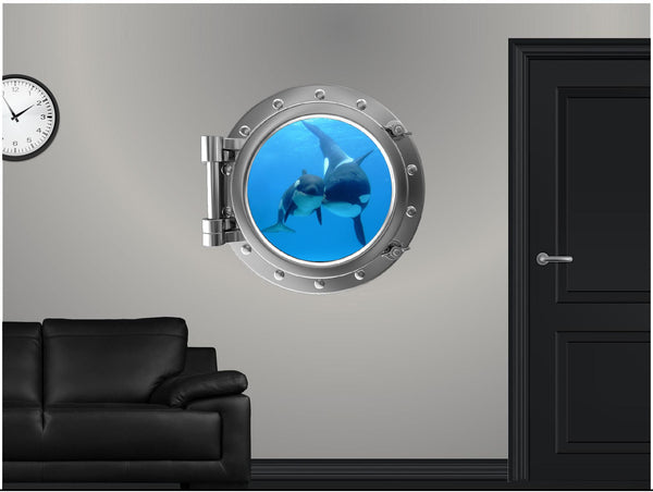 Portscape Killer Whale & Cub Wall Decal!