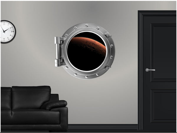 Portscape Orbiting Mars Wall Decal!