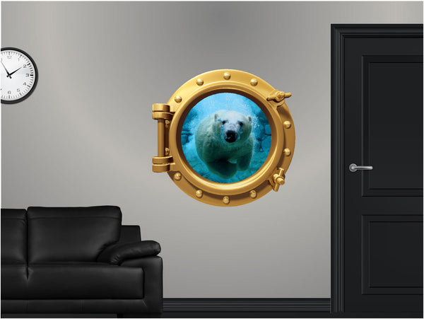Portscape Polar Bear #1 Wall Decal!