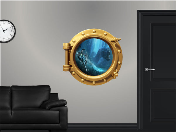 Portscape Sea Monster #2 Wall Decal!