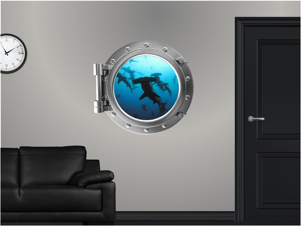 Portscape Shark #2 Wall Decal!