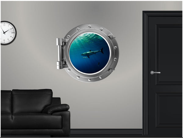 Portscape Shark #3 Wall Decal!