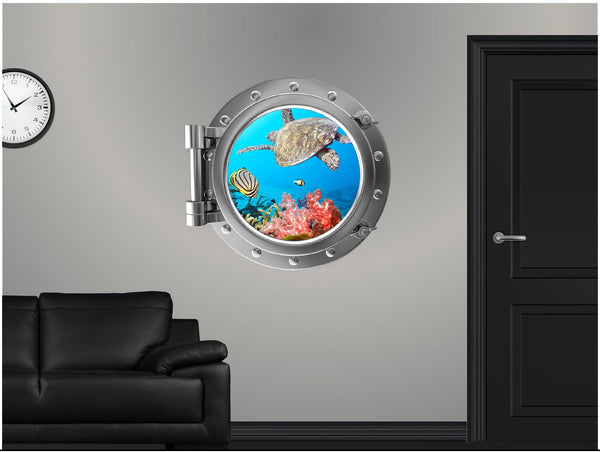 Portscape Tropical Reef Life #1 Wall Decal!