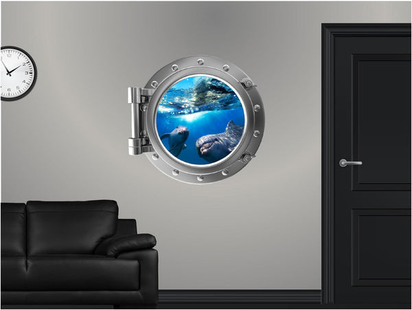 Portscape Dolphin #1 Wall Decal!