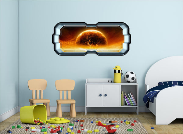 SpaceScape Red Planet Apocalypse Wall Decal!
