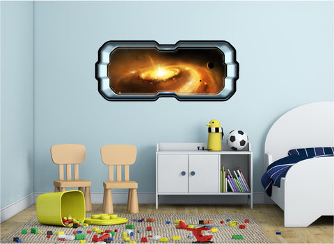 SpaceScape Red Spiral Galaxy Wall Decal!