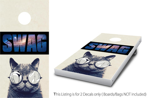 SWAG CAT #1 Cornhole Wrap Set!