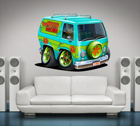 Scooby-Doo Wall Graphic Mystery Machine Cartoon Car Wall Decal!