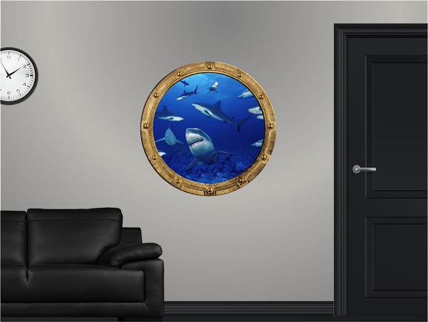 Portscape Shark Frenzy Wall Decal!