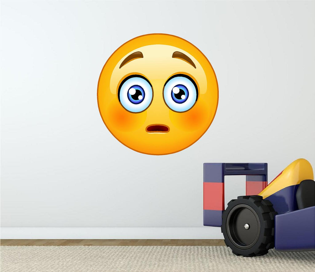 Shocked Emoji Wall Decal Stickit Graphix - Emoji wall decals