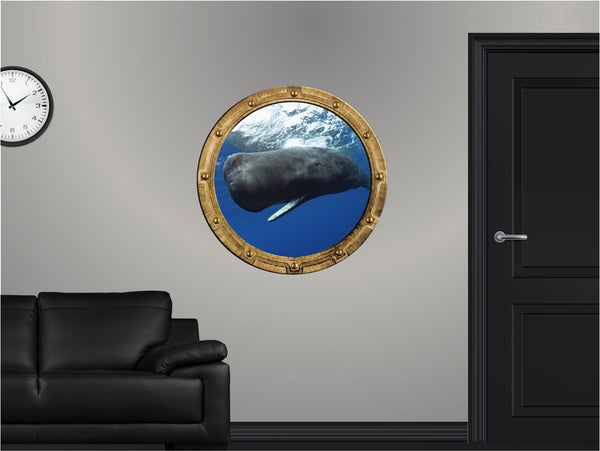 Portscape Sperm Whale #1 Wall Decal!